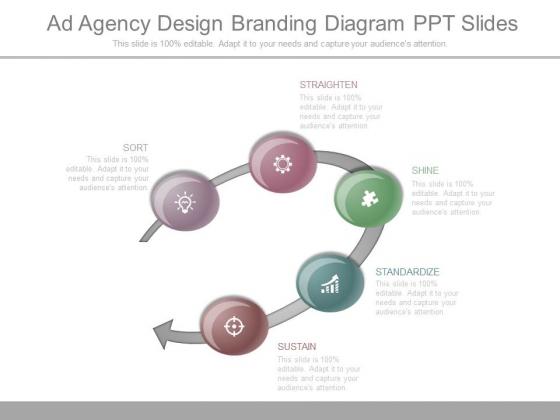 Ad Agency Design Branding Diagram Ppt Slides