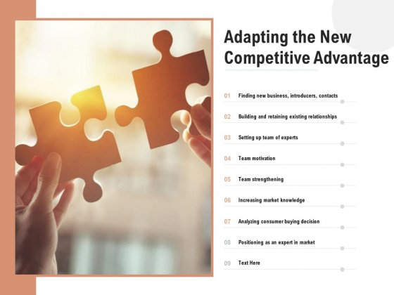Adapting The New Competitive Advantage Ppt PowerPoint Presentation Styles Infographic Template