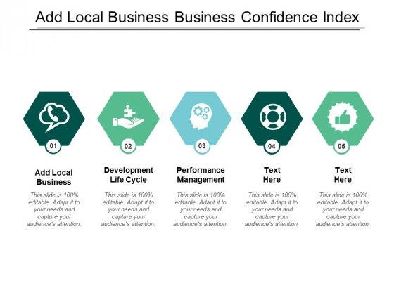 Add Local Business Business Confidence Index Performance Management Ppt PowerPoint Presentation Infographic Template Styles