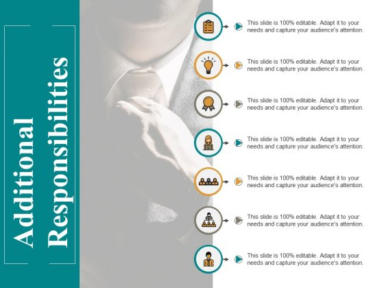 Additional Responsibilities Ppt PowerPoint Presentation Pictures Format