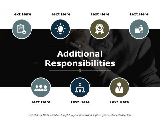Additional Responsibilities Ppt PowerPoint Presentation Summary Smartart
