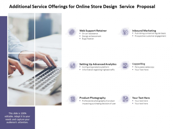 Additional Service Offerings For Online Store Design Service Proposal Ppt PowerPoint Presentation Slides Examples
