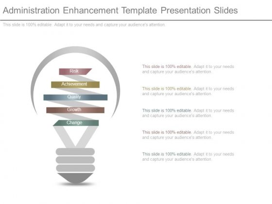 Administration Enhancement Template Presentation Slides