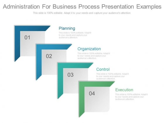Administration For Business Process Presentation Examples