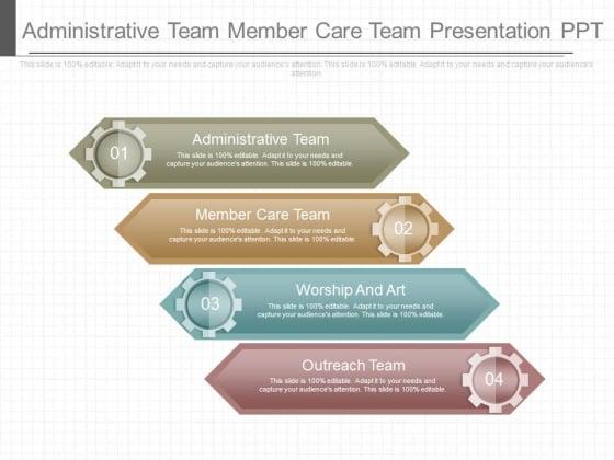 Administrative Team Member Care Team Presentation Ppt
