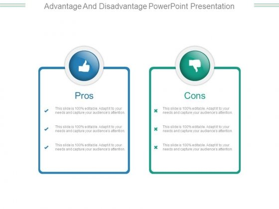 Advantage And Disadvantage Powerpoint Presentation