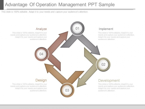 Advantage Of Operation Management Ppt Sample