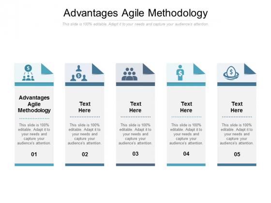 Advantages Agile Methodology Ppt PowerPoint Presentation File Model Cpb