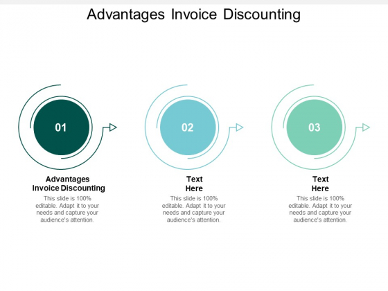 Advantages Invoice Discounting Ppt PowerPoint Presentation Portfolio Master Slide Cpb