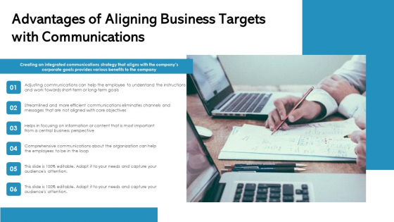 Advantages Of Aligning Business Targets With Communications Ppt Show PDF