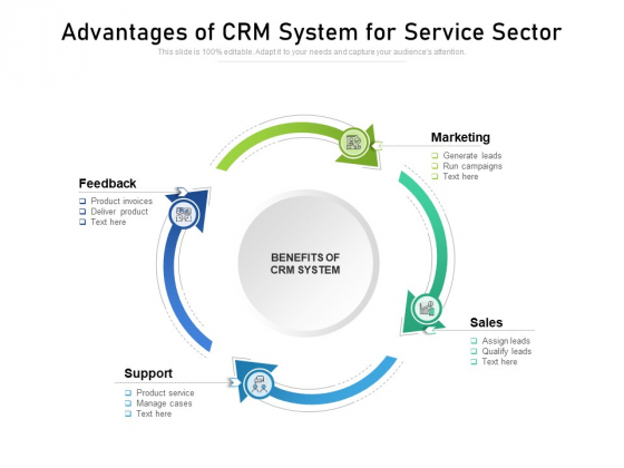 Advantages Of CRM System For Service Sector Ppt PowerPoint Presentation File Graphics Template PDF