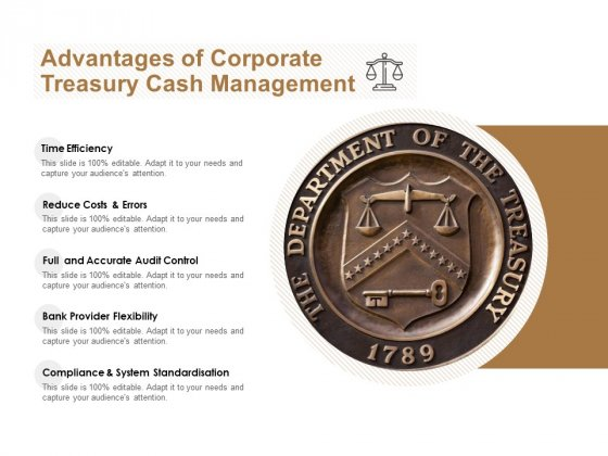 Advantages Of Corporate Treasury Cash Management Ppt PowerPoint Presentation Slides Smartart