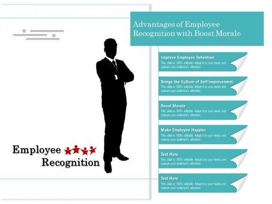 Advantages Of Employee Recognition With Boost Morale Ppt PowerPoint Presentation Icon Styles PDF