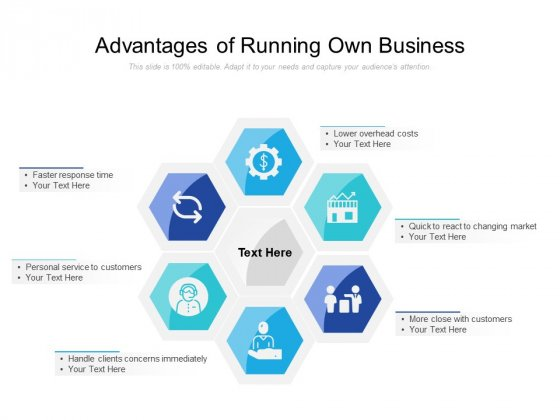 Advantages Of Running Own Business Ppt PowerPoint Presentation Gallery Graphics Design