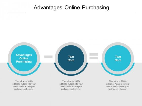 Advantages Online Purchasing Ppt PowerPoint Presentation Layouts Show Cpb