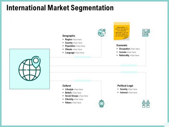 Advertisement Administration International Market Segmentation Ppt Ideas Backgrounds PDF