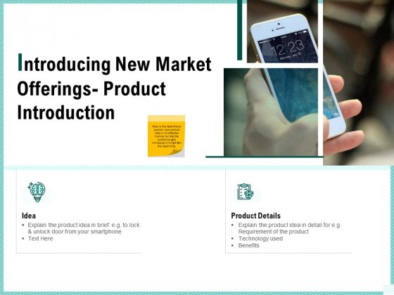 Advertisement Administration Introducing New Market Offerings Product Introduction Ppt Show Graphic Tips PDF