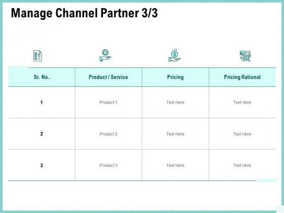 Advertisement Administration Manage Channel Partner Pricing Ppt File Microsoft PDF