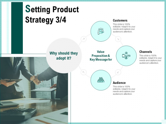 Advertisement Administration Setting Product Strategy Audience Ppt PowerPoint Presentation Inspiration Guide PDF