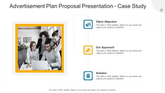 Advertisement Plan Proposal Presentation Case Study Ppt Tips PDF