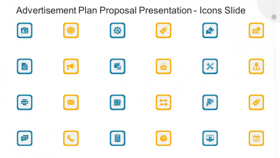 Advertisement Plan Proposal Presentation Icons Slide Ppt Show Images PDF