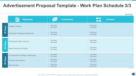 Advertisement Proposal Template Work Plan Schedule Growth Ppt Slides Graphics Template PDF