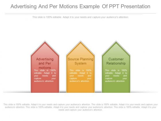 Advertising And Per Motions Example Of Ppt Presentation