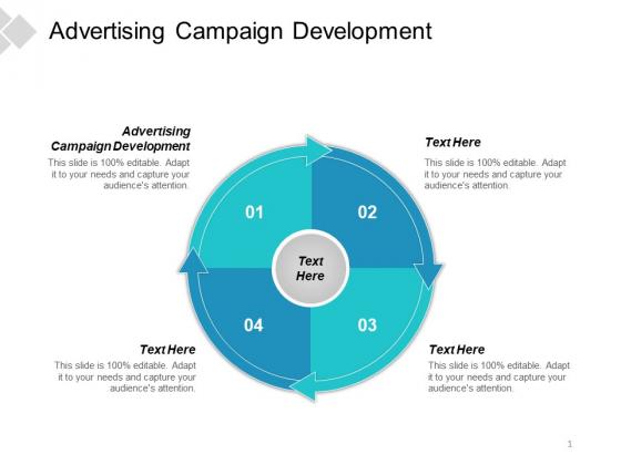 Advertising Campaign Development Ppt PowerPoint Presentation Portfolio Outline Cpb