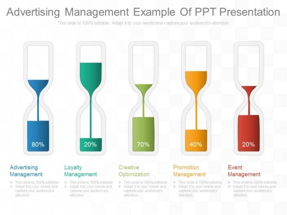 Advertising Management Example Of Ppt Presentation