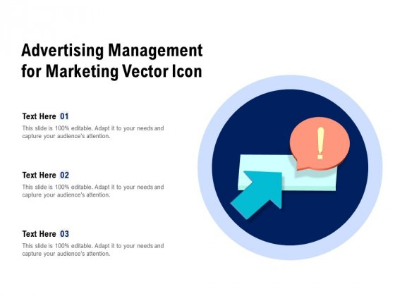 Advertising Management For Marketing Vector Icon Ppt PowerPoint Presentation Styles Styles PDF