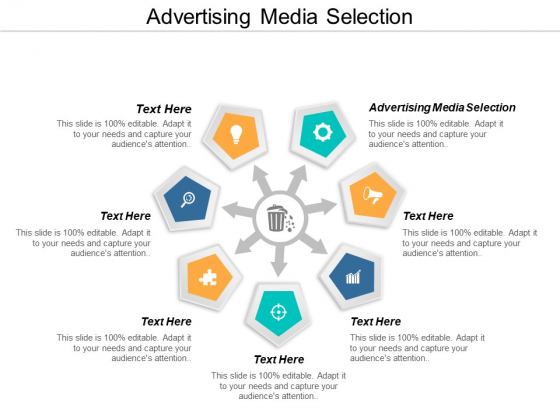 Advertising Media Selection Ppt PowerPoint Presentation Model Icon Cpb