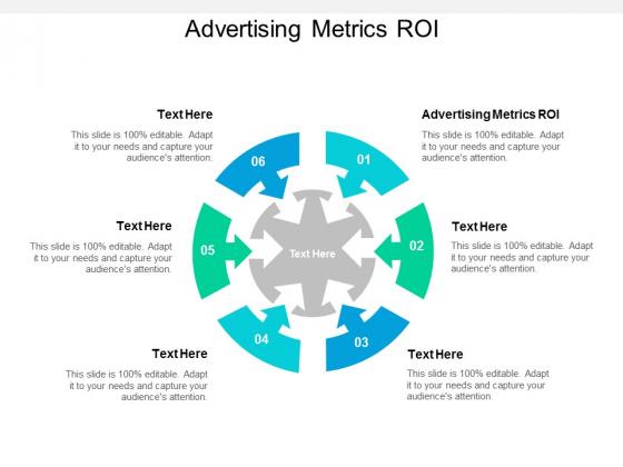 Advertising Metrics ROI Ppt PowerPoint Presentation Styles Vector Cpb