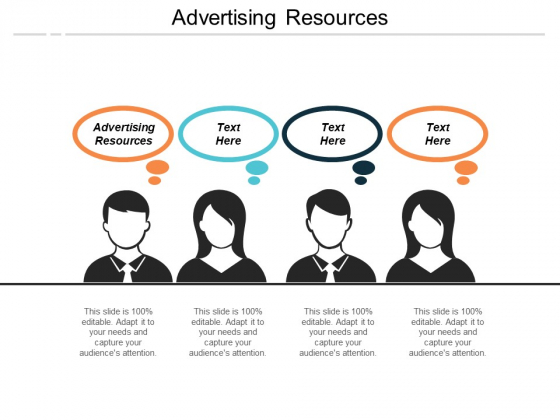 Advertising Resources Ppt PowerPoint Presentation Show Deck Cpb