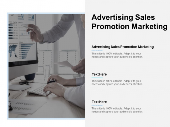 Advertising Sales Promotion Marketing Ppt PowerPoint Presentation Summary Show Cpb