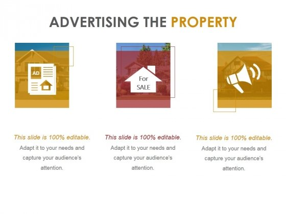 Advertising The Property Ppt PowerPoint Presentation Background Images
