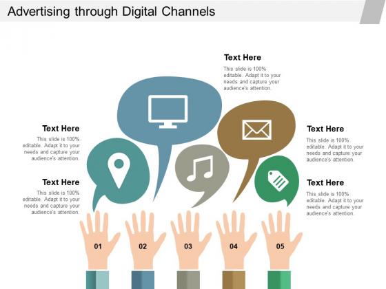 Advertising Through Digital Channels Ppt Powerpoint Presentation Slides Download