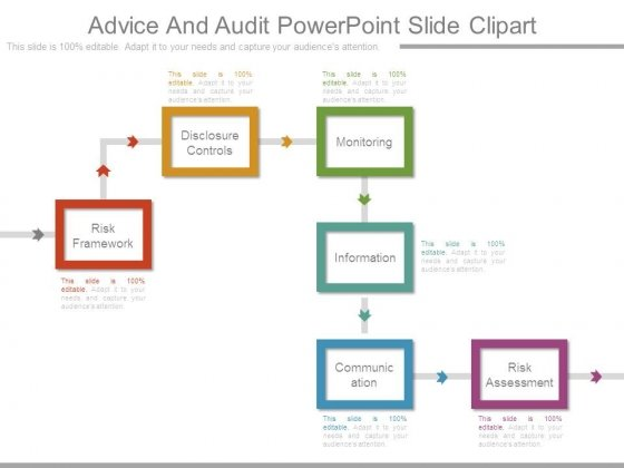 Advice And Audit Powerpoint Slide Clipart