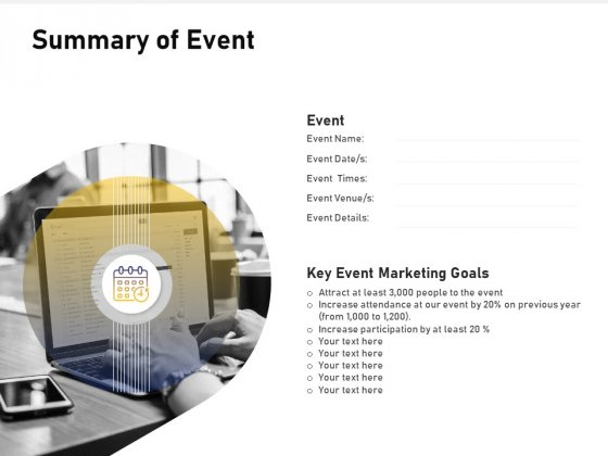 Advocacy And Marketing Campaign Request Summary Of Event Infographics PDF