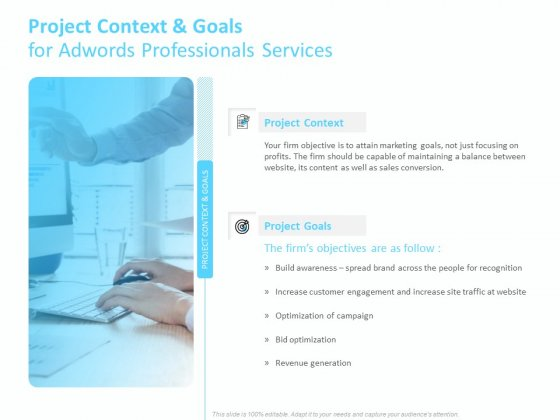 Adwords PPC Project Context And Goals For Adwords Professionals Services Information PDF