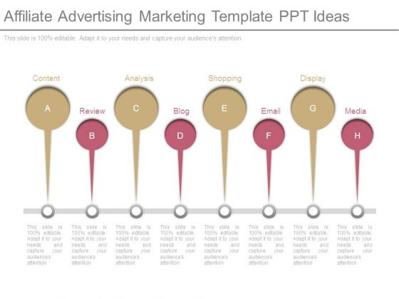 Affiliate Advertising Marketing Template Ppt Ideas