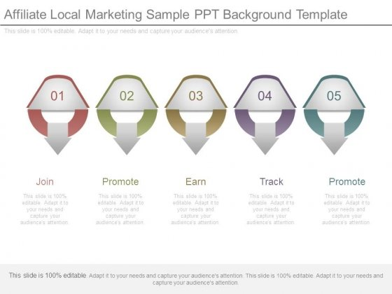 Affiliate Local Marketing Sample Ppt Background Template