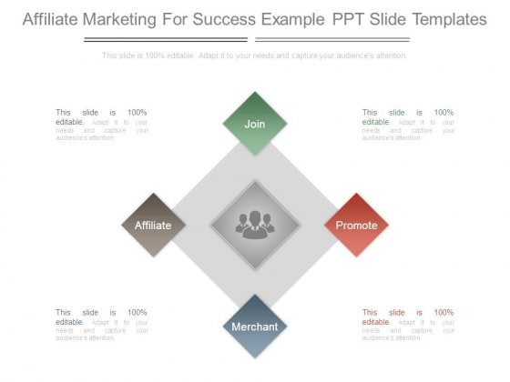 Affiliate Marketing For Success Example Ppt Slide Templates