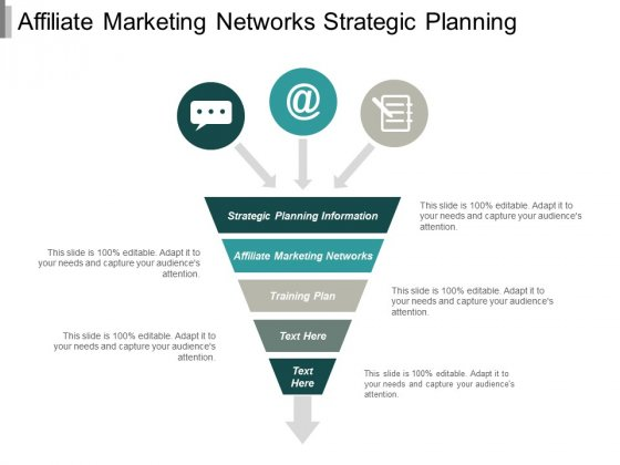 Affiliate Marketing Networks Strategic Planning Information Training Plan Ppt PowerPoint Presentation File Aids