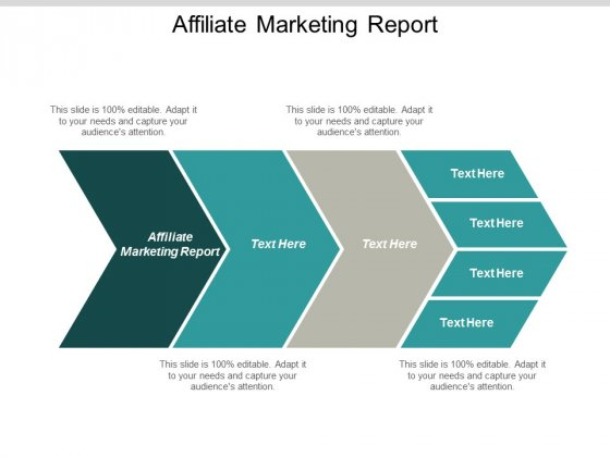 Affiliate Marketing Report Ppt PowerPoint Presentation Icon Design Ideas Cpb