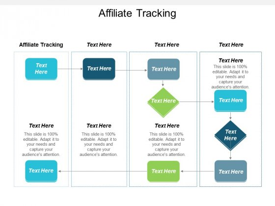 Affiliate Tracking Ppt PowerPoint Presentation Infographic Template Slides Cpb