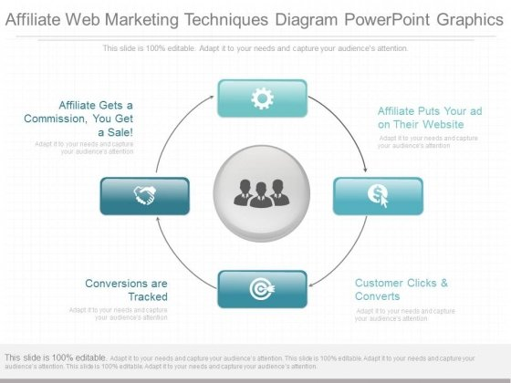 Affiliate Web Marketing Techniques Diagram Powerpoint Graphics