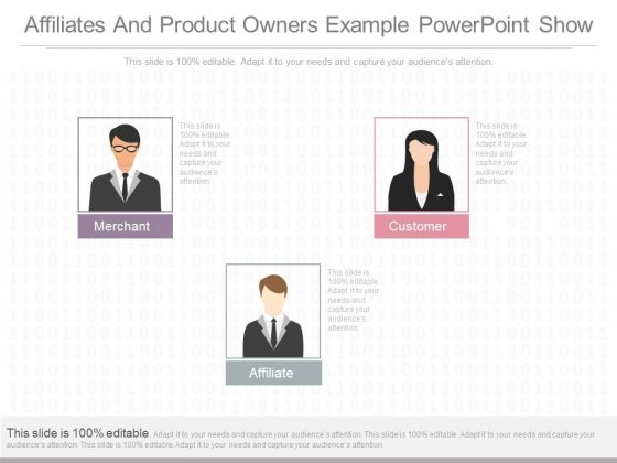 Affiliates And Product Owners Example Powerpoint Show