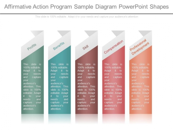 Affirmative Action Program Sample Diagram Powerpoint Shapes