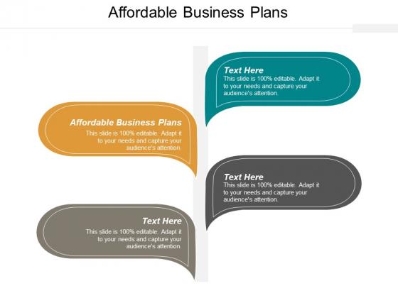 Affordable Business Plans Ppt PowerPoint Presentation Professional Portrait Cpb