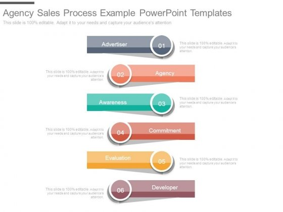 Agency Sales Process Example Powerpoint Templates